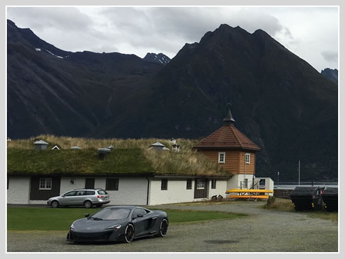 Supercar car transport to Norway.